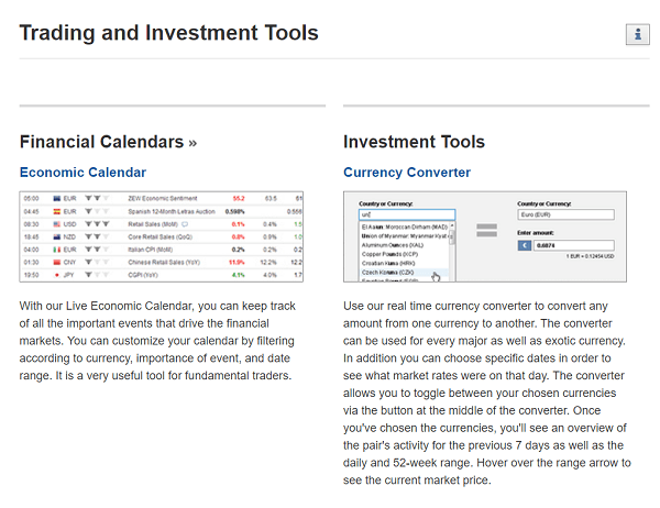 Investing com trading tools