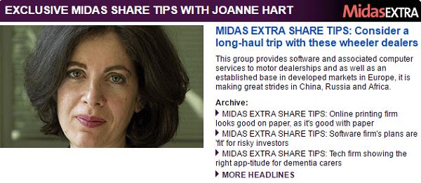 Sunday Share Tips Midas